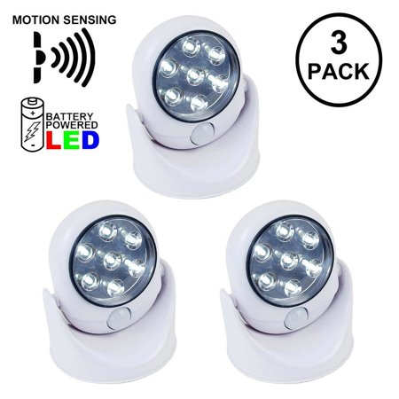 Aurora Golden Motion Sensing Battery Operated LED Spot Light,  Pure White, Uses 4 AA Batteries