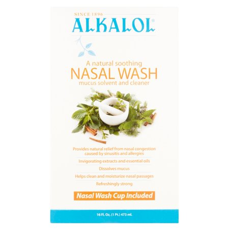 Alkalol Mucus Solvent and Cleaner Nasal Wash, 16 fl oz