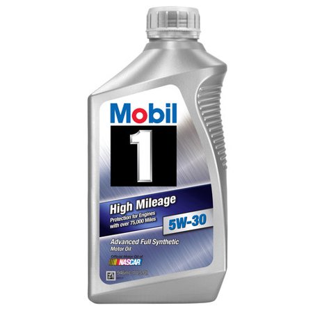 Mobil 1 5W 30 High Mileage Full Synthetic Motor Oil  1 Qt
