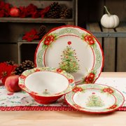 the pioneer woman garland 12 piece dinnerware set - Christmas China Sets