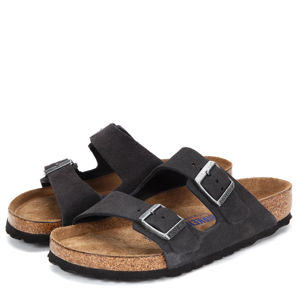 Birkenstock Arizona Soft Footbed Suede Sandals 552321 Velvet Gray by Birkenstock
