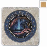 Patriotic United We Stand Single Natural Stone Coaster