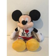 """Disney Store Authentic 12"""" Mickey Mouse I Love New York Plush New With Tags"""