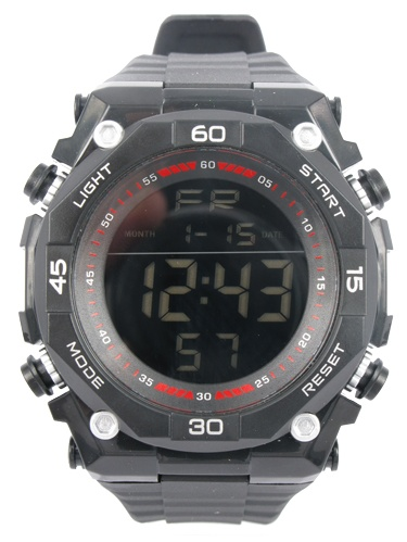 Ozark Trail Black Digital Watch with reverse digital display