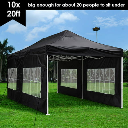 detailed look 1e516 f09ed Yescom 10x20' EZ Pop Up Canopy Folding Wedding Party Tent Outdoor Black