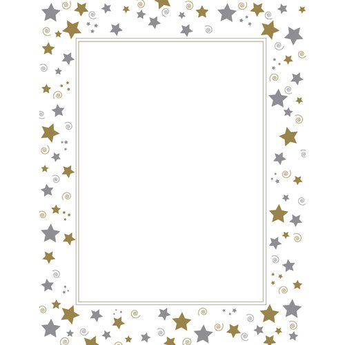 Stars and Swirls Foil Design Certificates, 15ct