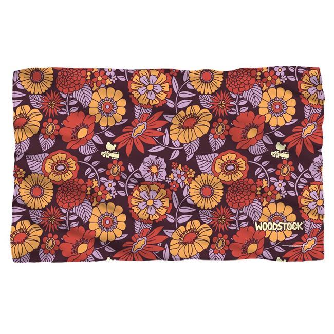 Trevco WOOD138-BKT1-36x58 Woodstock & Flower Set-Fleece Blanket, White - 36 x 58 in.