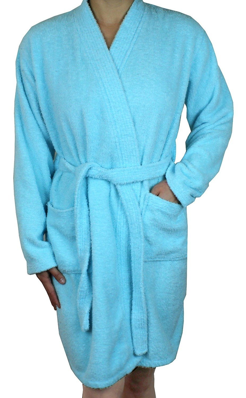 72d70a641d Ms Lovely - Women s Cotton Terry Cloth Long Sleeve Bathrobe - Soft Short  Length Robe - Walmart.com