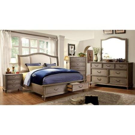 Furniture Of America Minka Iv Rustic Grey 4 Bedroom Set Cal  picture