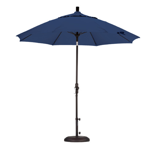 9 ft. Fiberglass Market Umbrella (Bronze and Olefin Hunter Green)