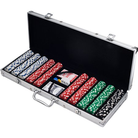 500 Dice Style Casino Weight Poker Chip Set - Casino Style