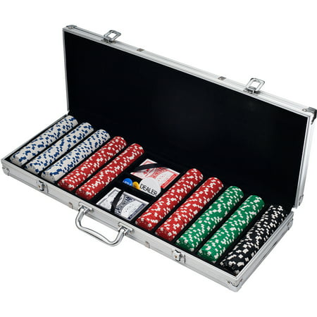 500 Dice Style Casino Weight Poker Chip Set - Casino Party Games