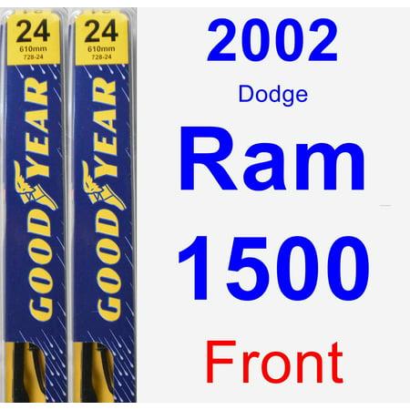 2002 Dodge Ram 1500 Wiper Blade Set/Kit (Front) (2 Blades) - Premium (99 Dodge Ram 1500 Wiper Motor)