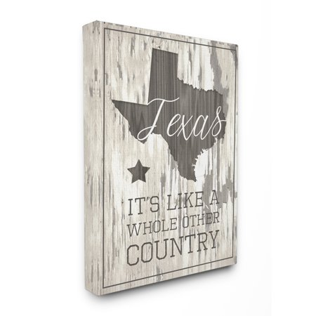 Texas Home Decor (The Stupell Home Decor Collection Texas, A Whole Other Country Oversized Stretched Canvas Wall Art)