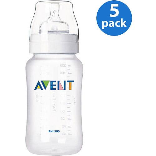 Philips AVENT SCF683/57 BPA Free Classic 9 Ounce Polypropylene Bottles, 5-Pack