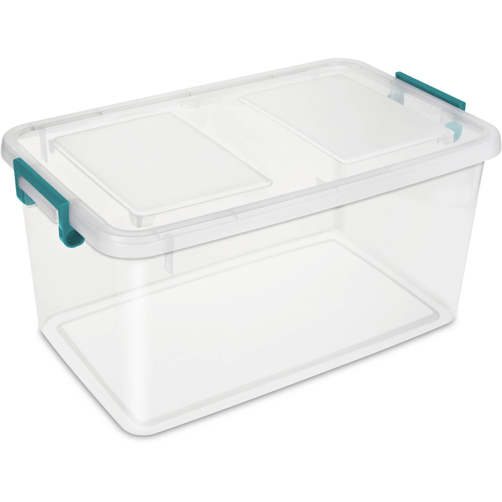 Clear Plastic Storage Bins Walmart Com