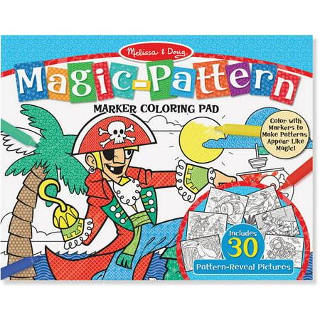 Melissa & Doug Magic-Pattern Marker Kids\' Coloring Pad - Pirates ...