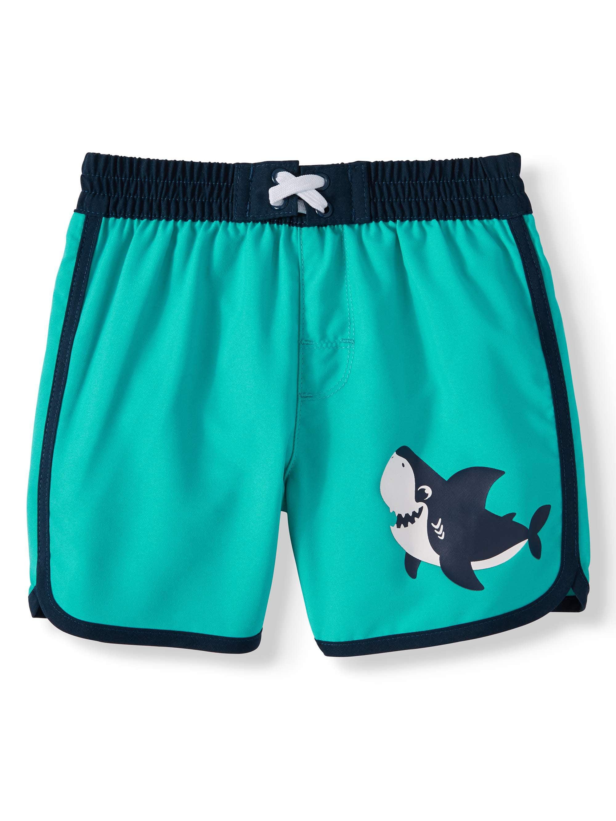 Wonder Nation Infant Boys Whales All Over Sky Blue Swim Short Trunk