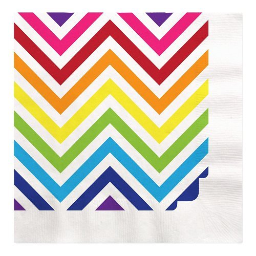 Chevron Rainbow - Luncheon Napkins (16 count)