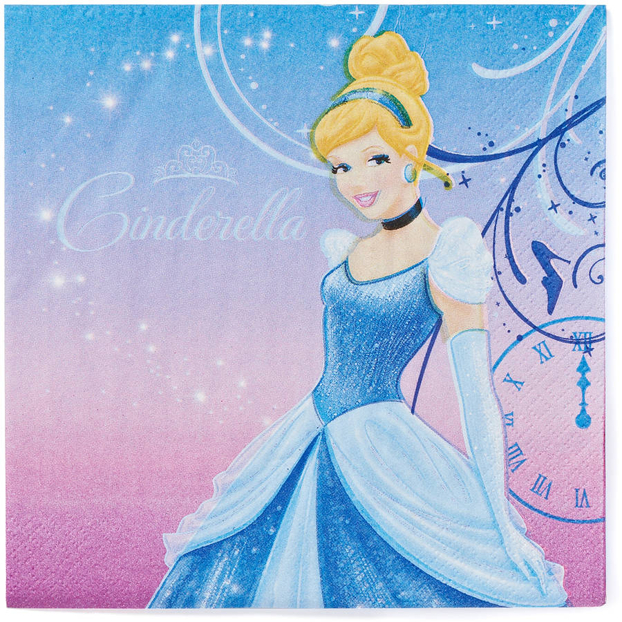 Cinderella Lunch Napkins, 16 Count, Party Supplies