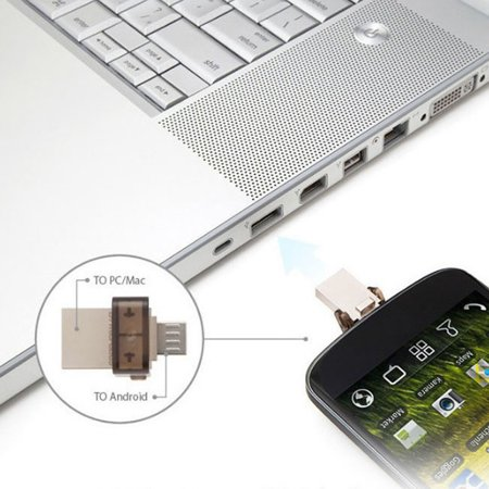 Dual Port Micro USB Flash Storage Memory