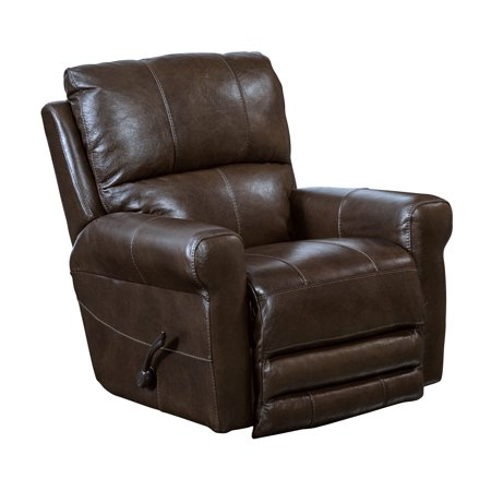 Catnapper Hoffner Top Grain Leather Touch Swivel Glider Recliner in