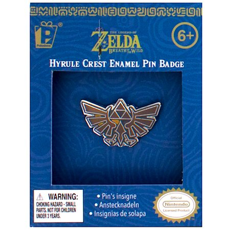 Legend of Zelda Breath of The Wild Hyrule Crest Enamel Pin Badge