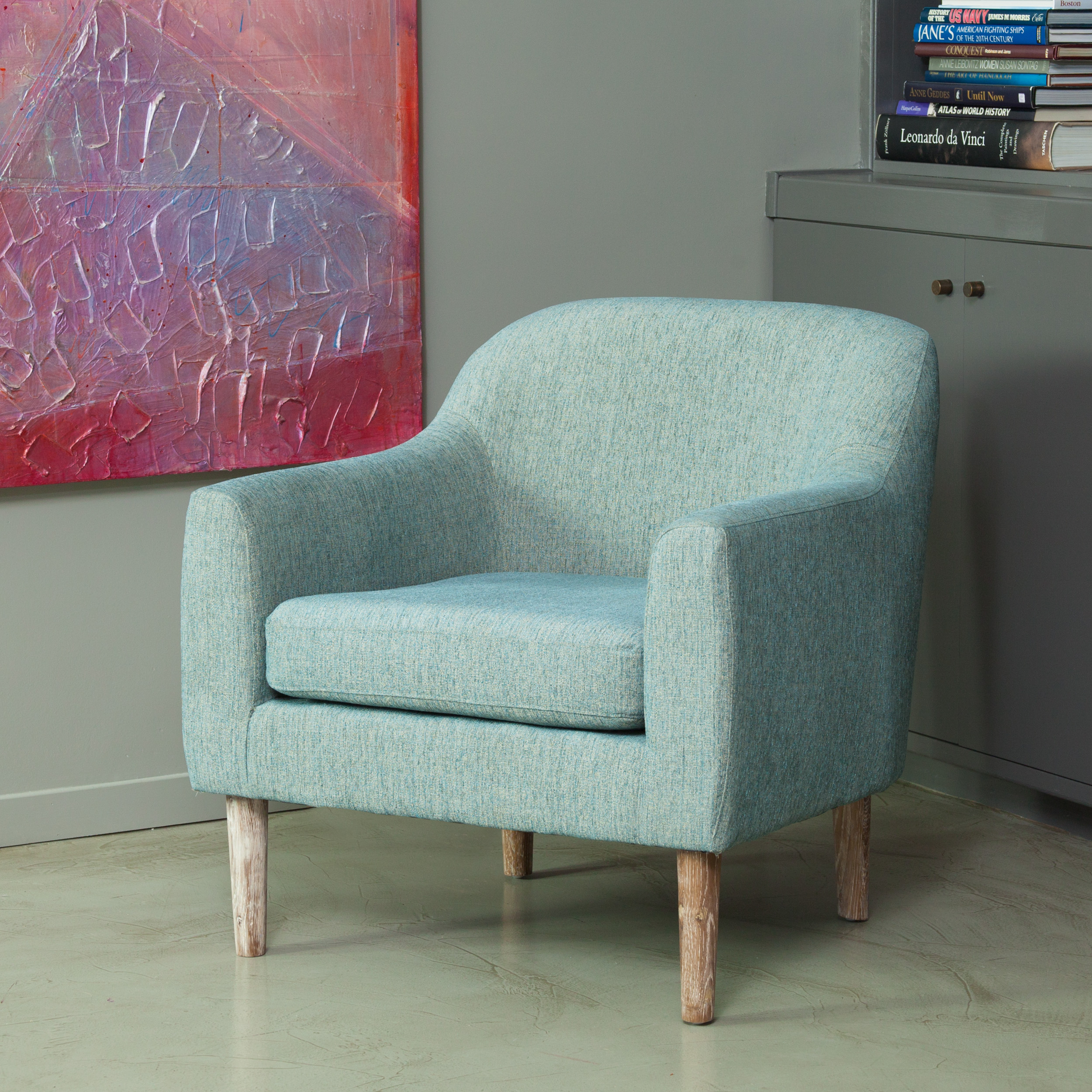 Noble House Bellvue Blue and Green Retro Chair