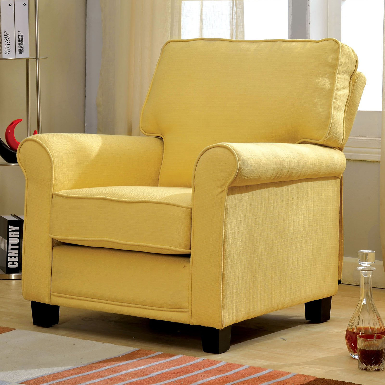 Furniture Of America Kinney Accent Chair Walmart Com