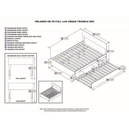 Atlantic Furniture Orlando Urban Full Trundle Platform Bed in Walnut - image 1 of 3