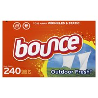 Bounce Fabric Softener Dryer Sheets, Outdoor Fresh Scent, 240 Count