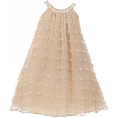 Special Occassion Dresses For Girls (Big Girl Uragiri Flower Girl Dress for Special Occasion and Summer Champagne 10)