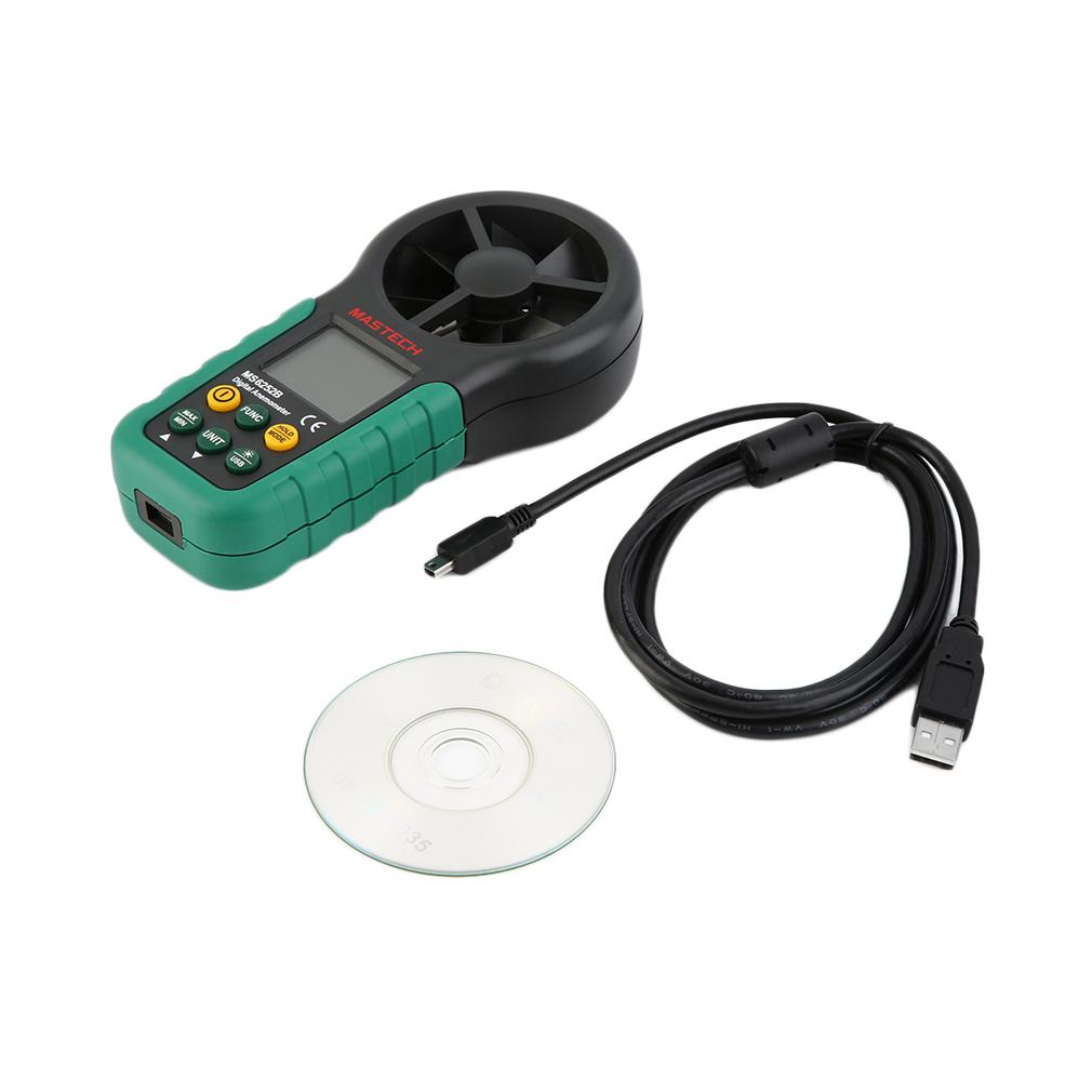 Mastech Portable Digital Anemometer Handheld LCD Electron...