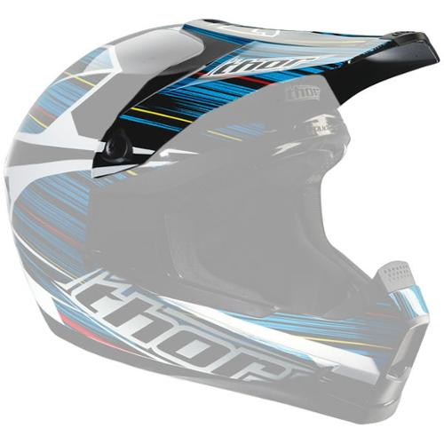 Thor Quadrant S12 Replacement Visor Kit Frequency Blue
