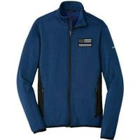 Eddie Bauer American Flag Blue Line Fleece Jacket Heather Stretch EB238