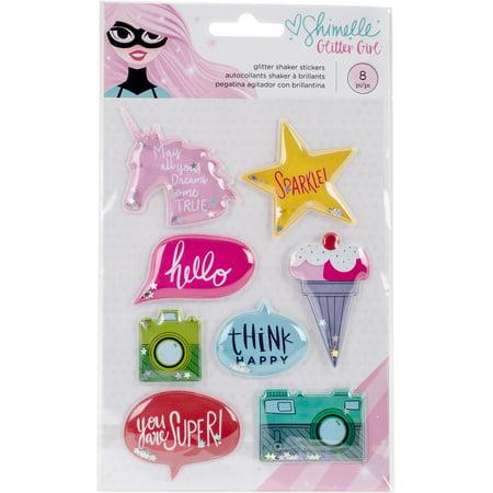 Shimelle Glitter Girl Shaker Stickers 8/Pkg-W/Glitter](Girls Glitter)