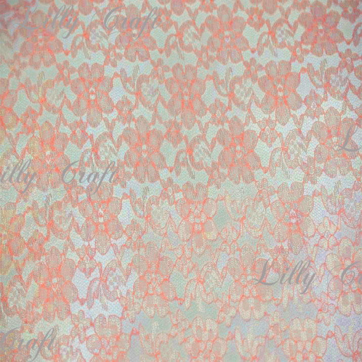 Peach Rachelle Lace 58 Inch Fabric Sold by the Yard