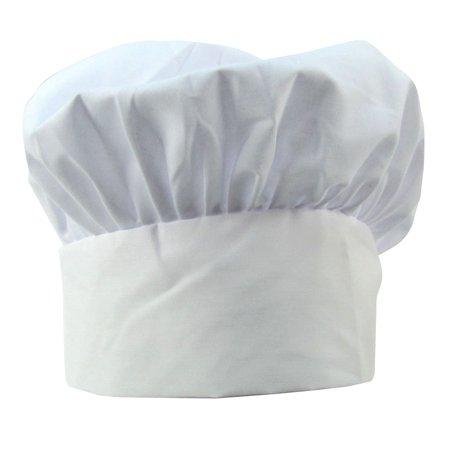 White Cloth Chef Baker Hat Kitchen Cap Cooking Uniform Accessory - Chef Caps