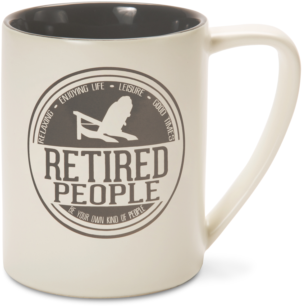 Pavilion - Gray Retired People Ceramic 18 oz Large Coffee Mug