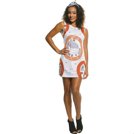 Star Wars Womens Bb8 Rhinestone Tank Dress Halloween Costume