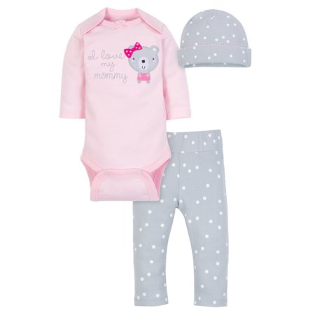 - Wonder Nation Take Me Home Outfit Set, 3pc (Baby Girls)