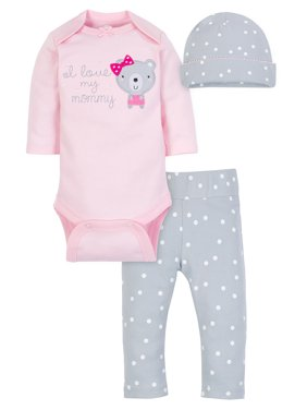 95fcd3f3b Product Image Wonder Nation Take Me Home Outfit Set, 3pc (Baby Girls)