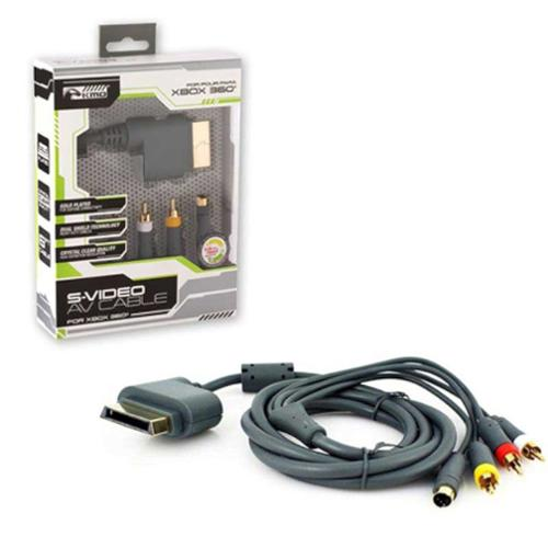 KMD 6 feet Gold-plated S-Video AV Cable For Microsoft Xbox 360 With Packaging