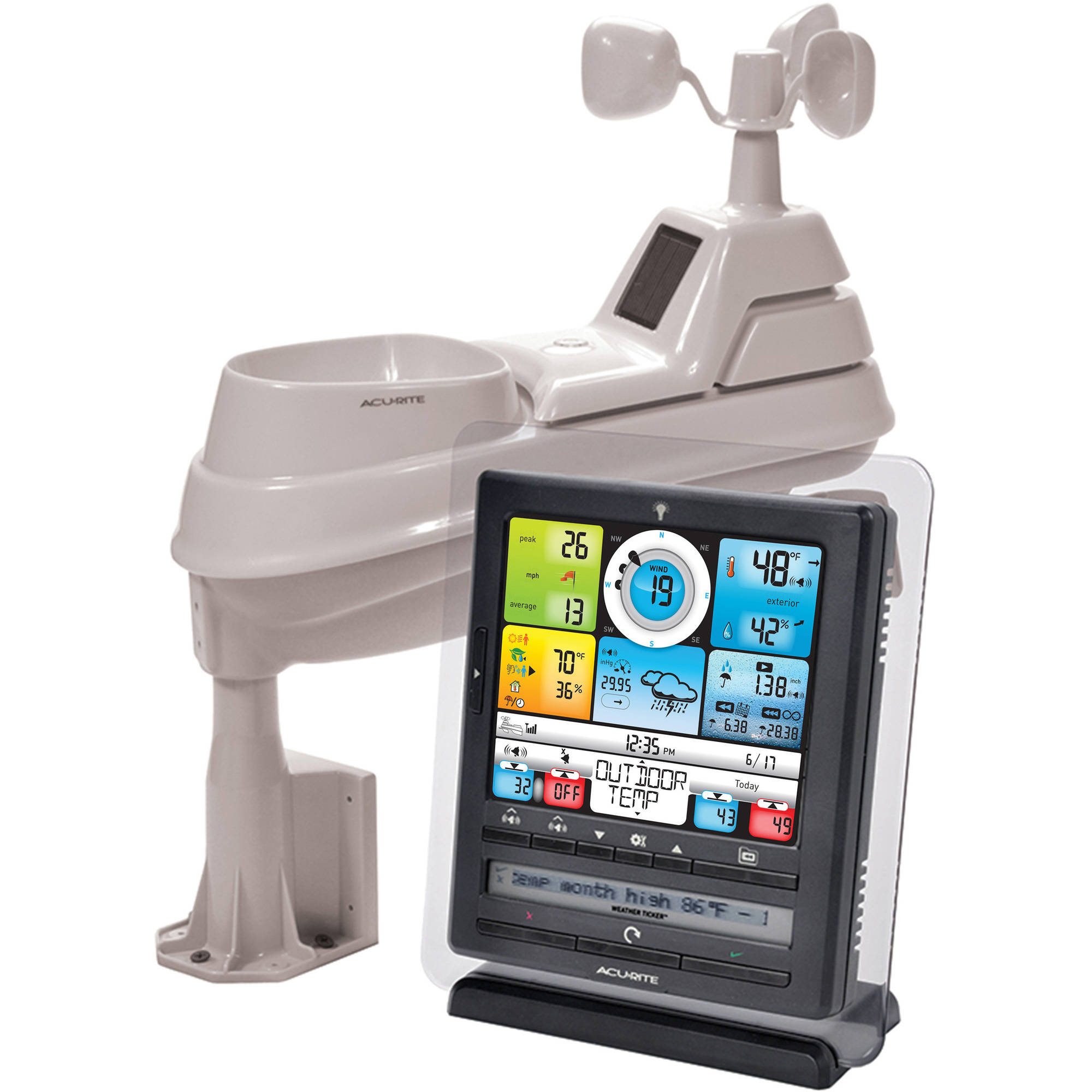 "AcuRite 8"" Pro Digital Weather Station with PC Connect. Professional Weather Station... by Chaney Instruments"