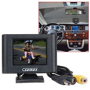 Sumas Media Car Rear View 2 5   Monitor W Backup Rear Reverse Wired Video Camera