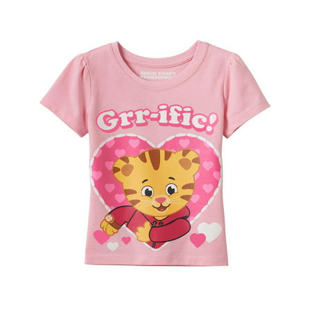 Daniel Tiger Girls Short Sleeve Tee (Toddler) DTST028](Daniel Tiger Gifts)