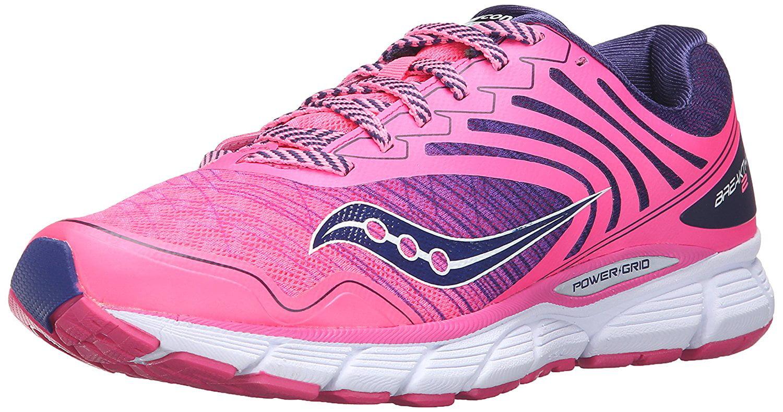 Saucony Women's Breakthru 2 Running Shoe, PinkNavy, 8.5 M US