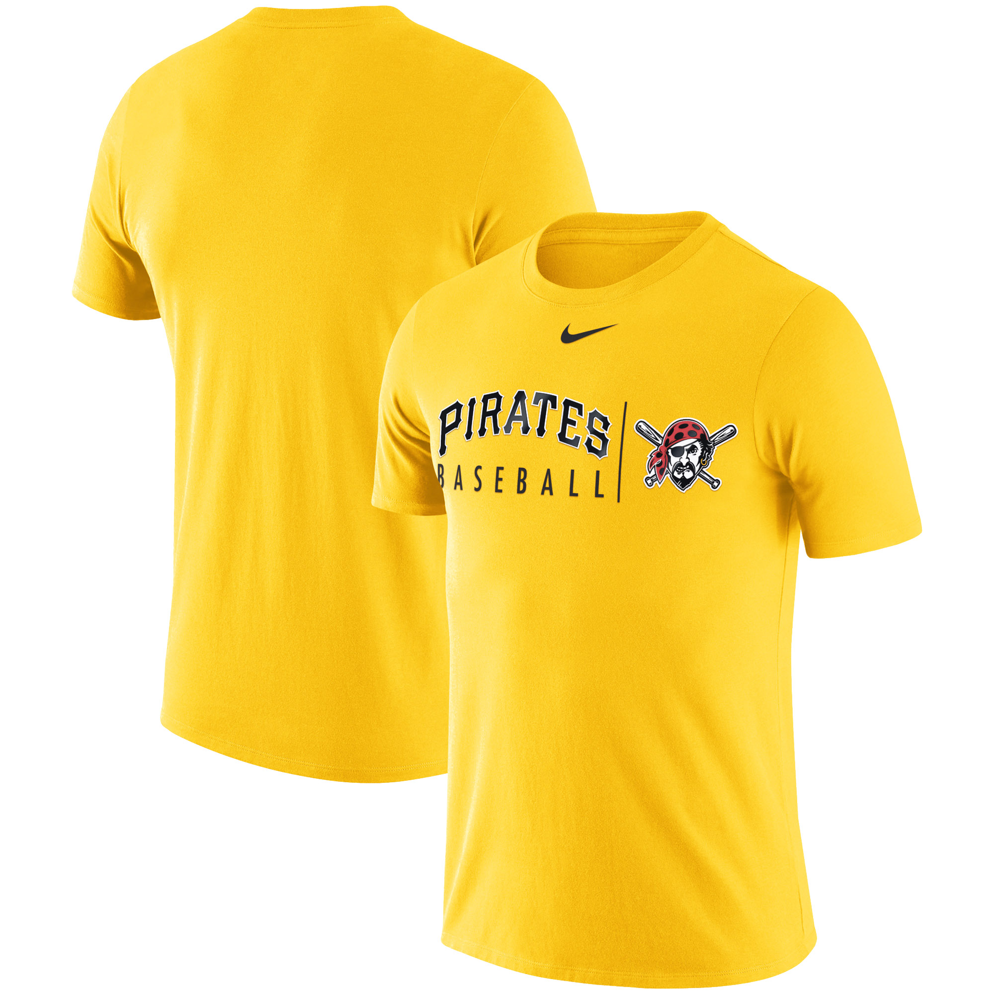 Pittsburgh Pirates Nike MLB Practice T-Shirt - Gold