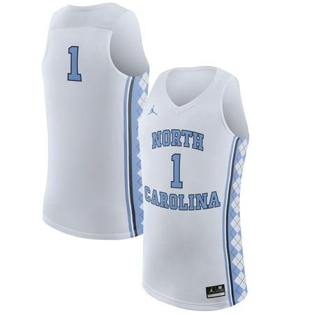 #1 North Carolina Tar Heels Nike Replica Basketball Jersey - White
