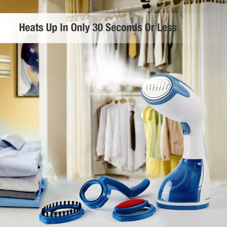 NATURALIFE Garment Steamer Handheld Iron Clothes Steamer Portable Home and Travel Fabric Small Steamer 35s Heat Up with 260ml Removable Water Tank Vertically Horizontally